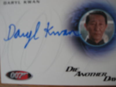 James Bond Autograph/Relic Skyfall  Card A232 Daryl Kwan as General Han