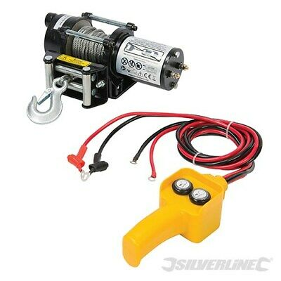 2000Lbs Heavy Duty Electric Winch 12V Remote Control Car Boat Silverline 748850