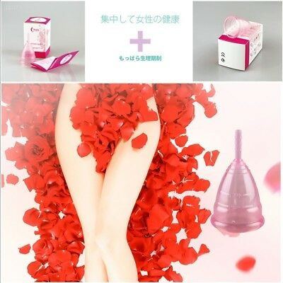 Menstrual Cup Soft Silicone Lady Cup Perfect Feminine Filter Hygiene Pink 4F4E