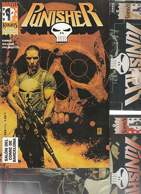 PUNISHER MARVEL KNIGHTS VOL.1 Nºs : 1.  5. 6. 7. 11.( LOTE  5  NUMEROS  ) FORUM.