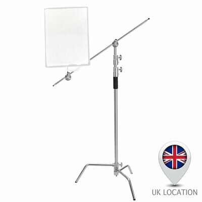 10ft Heavy Duty Detachable Turtle Base C-Stand Boom Arm Grip Head for Reflector