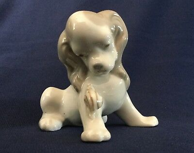 Early LLADRO Spaniel Puppy Dog w Snail Porcelain Figurine 1962 Spain Prototype