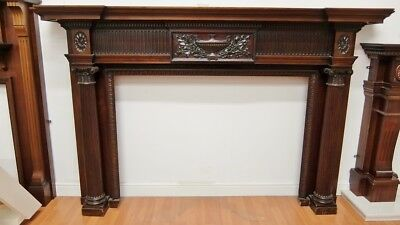 Solid Mahogany Fire Surround Fireplace Beautiful 1460x2290mm Wooden Timber