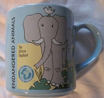 African Elephants  mug by Action / Made in Japan Vintage Endangered Animals