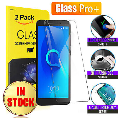 [ 2 Pack ] Tempered Glass LCD Screen Protector Guard For Telstra Alcatel 1C & 1X