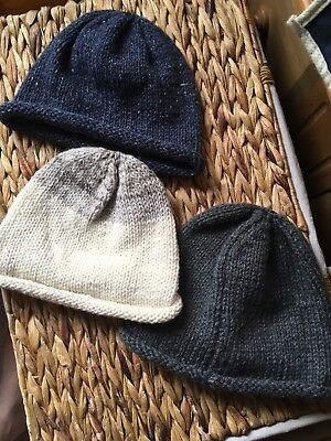 Job Lot Monmouth Caps 17th & 18th Century Style  Reenactment hand knitted wool