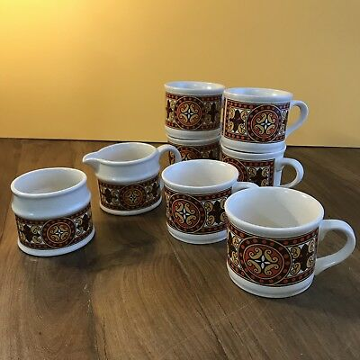 Vintage Sadler England coffee cup set w/ sugar & creamer retro collectable 1970s