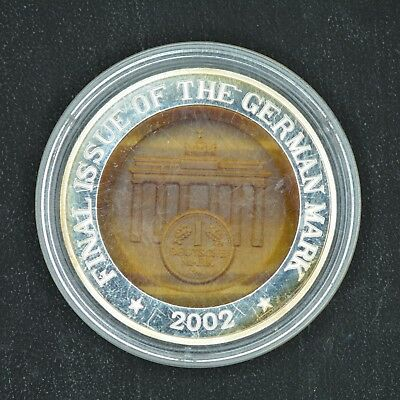 10 Won 2002 Final Issue of the German Mark Korea Silver Proof