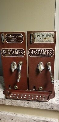 Schermack Model P  antique stamp machines 5 cent and 1 cent works! No Damage!