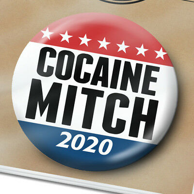Cocaine Mitch McConnell BUTTON - Nickname for Leader