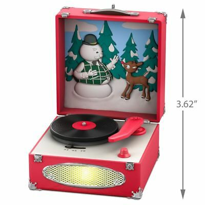 Hallmark 2018 Record Player Rudolph the Red Nosed Reindeer Magic Ornament