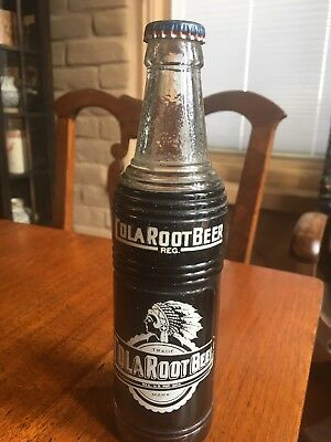 ACL soda bottle Cola Root Beer 1948 capped excellent condition
