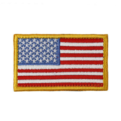 USA Flag Army Badge Patches Embroidered Cloth Sticker American Armband 78BD