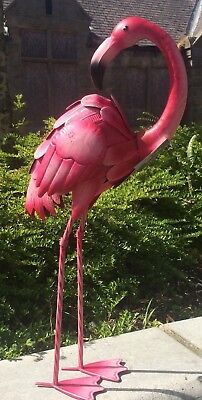 Flamingo Baby Pink  Metal  Indoor Outdoor Garden Ornament