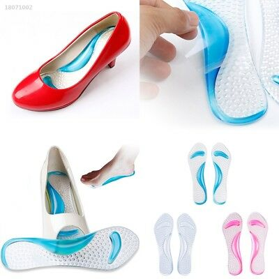 Women Silicone Gel Foot Protector Cushion Shoe Insert Pad Insole Relieve 63EB