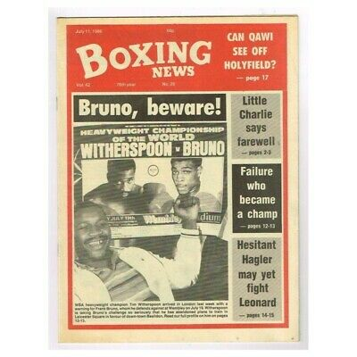 Boxing News Magazine July 11 1986 MBox3434/F Vol.42 No.28 Bruno,beware!