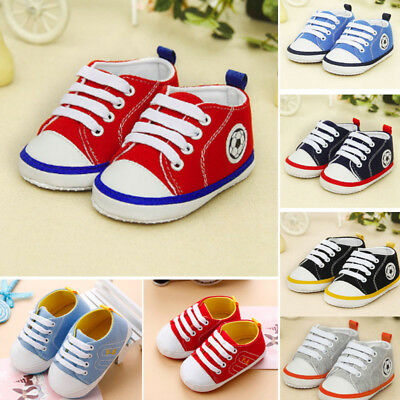 Infant Toddler Baby Boys Girls Soft Sole Crib Shoes Sneaker Newborn 0-12M New