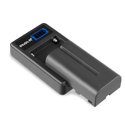 Phot-R NP-F550 2200mAh L Series Li-ion Battery Micro-USB Charger Set for Sony