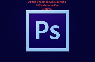 Adobe Photoshop CS6 Extended for Windows Genuine Lifetime Key (24hr Delivery)