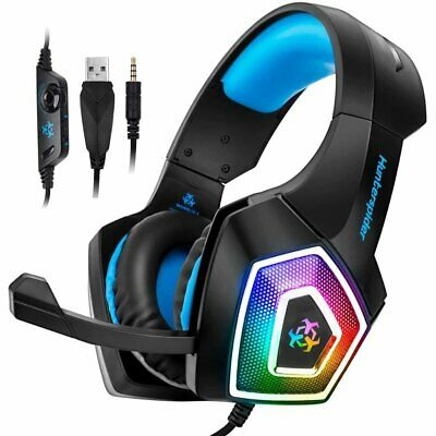 3.5mm Gaming Headset V1 Headphone LED Mic For PC Laptop PS4 Slim Xbox One X S