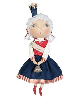 Victorian Trading Co Miss Liberty Doll Plush Hand Made New