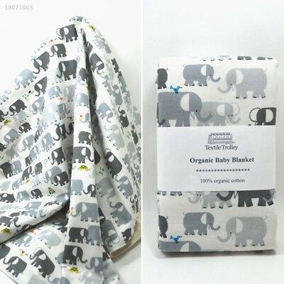 Toddler Newborn Baby Elephant Pattern Blanket Swaddle Wrap Comfortable 7756