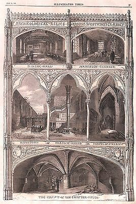 Westminster.1866.Crypt.Chapter House.Archaeology.Relics.Chapel.Refectory
