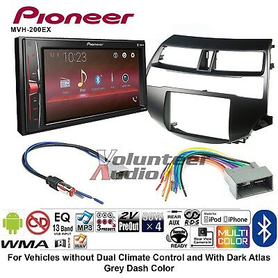 Pioneer Radio Stereo Double Din Dash Kit Wire Harness For 03 08