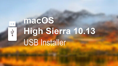 Apple MacOS High Sierra USB Bootable Installation Drive & Recovery Repair 10.13