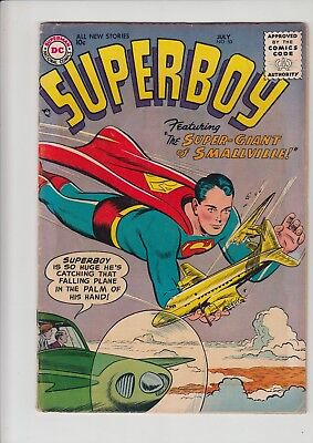 Superboy 50 - FN+ 6.5! Nice Mid Grade Early Silver Age! $5 SHIP NO RESERVE!