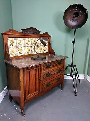 An Antique Victorian Walnut Washstand Sideboard Dresser ~Delivery Available~