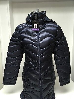 d56e1a0a1b333 Andrew Marc Ladies' Featherweight Long Down Jacket - Packable -Indigo XS/XCH