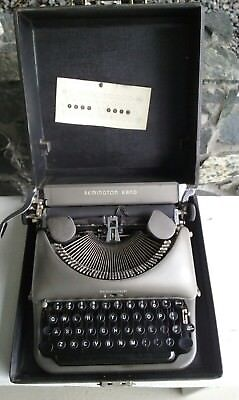 Vintage Remington Rand Deluxe Model 5 Typewriter With Case Working Order Usa