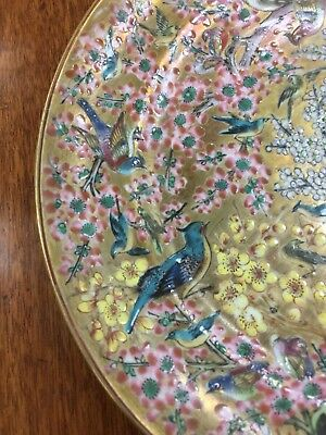 Antique Chinese Export BIRD Plate 18th Century RARE Fine Painting LOTS OF BIRDS!