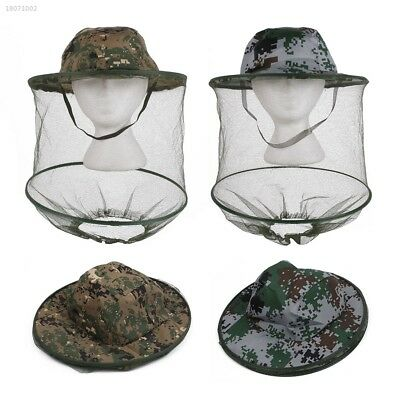 Jungle Camouflage Field Face Mesh Mask Cap Mosquito Bee Insect Fishing Hat 234B