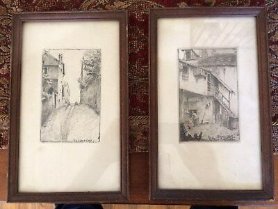 1860's Pair of Framed French Copper Plate Engravings ( Strong Plate Marks )!!!!
