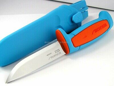 Mora Morakniv Basic 511 Carbon Steel Knife Sweden BLUE ORANGE LIMITED EDITION