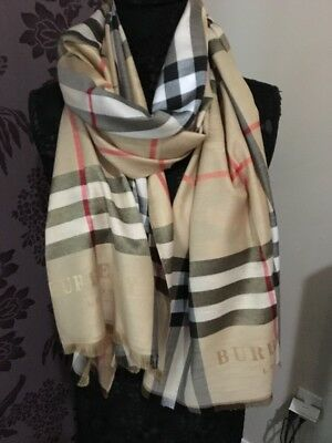 brand new authentic burberry 100% cashmere scarf