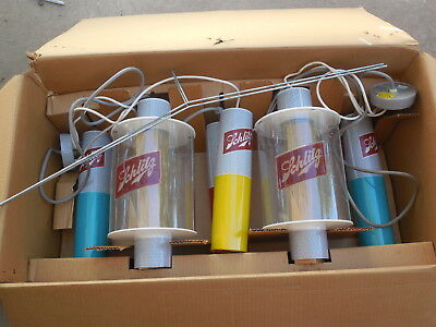 Vintage 1964 Schlitz Beer CANDLE LIGHT Bar Double Motion Light Set Unused in Box