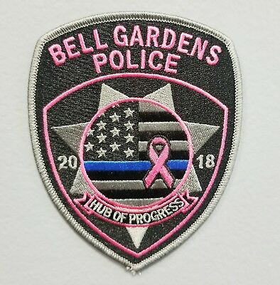 2018 Bell Gardens Police Department-Pink Shoulder Patch - Free Ship Collectible