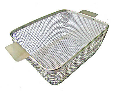 ULTRASONIC CLEANING BASKET CP28M-CST950 11 x 8-3/4 x 4.5 #304 for Crest 950
