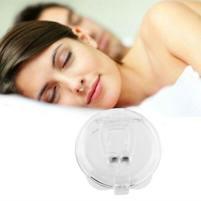 New Stop Snoring Anti Snore Magnetic Silicone Nose Clip Care Tray Aid E80E