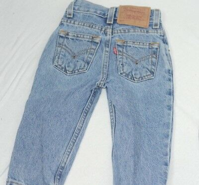 Levis Vintage Kids 550 Jeans Size 2T Slim Relaxed Fit Medium Wash Blue Pants