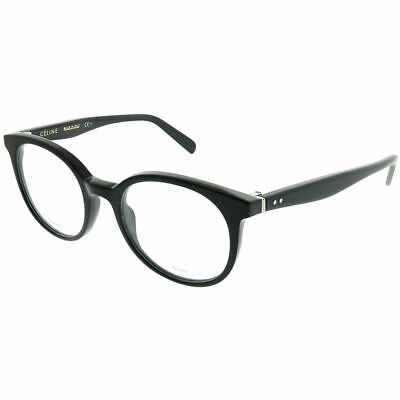 c5a6096d64 Celine Thin Mary Small CL 41349 807 Black Plastic Round Eyeglasses 49mm
