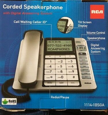 RCA Corded Desktop Phone with Caller ID & Digital Answering System