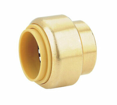 "1/2"" SharkBite Quality Push Fit Cap, Lead Free Brass, New! (x1)"