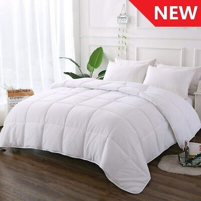 White Comforter Quilted Reversible Duvet Insert Queen/Full Size with Corner Tabs
