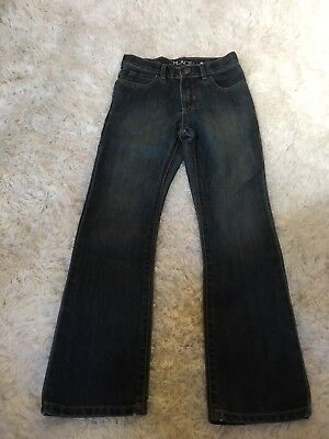 The Childrens Place Boy's Basic SLIM Fit size7 Bootcut Jeans. Dust Bowl Wash