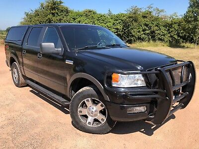 2005 05 FORD F150 CREW CAB PICKUP 5.4 V8 4x4 BLACK AUTO LEATHER 1 OWNER 126,000