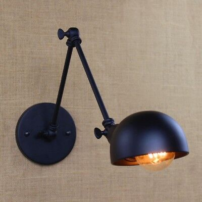 E27 Vintage Industrial Adjustable Swing Long Arm Light Sconce Wall Lamp Fixture